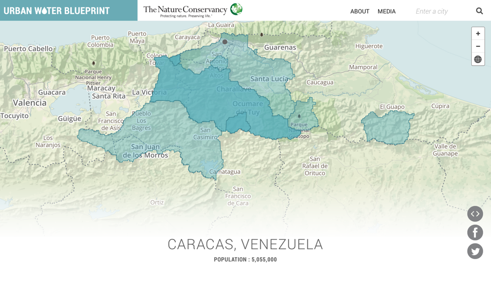 Urban Water Blueprint Caracas - Caracas on world map