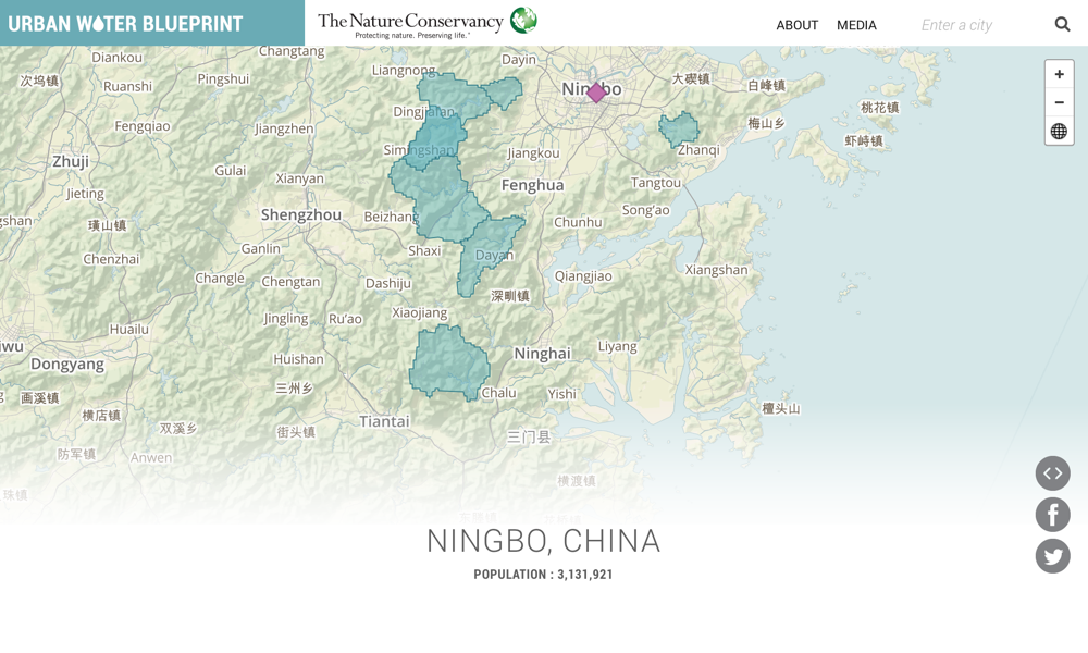 Urban Water Blueprint Ningbo - Fenghua map